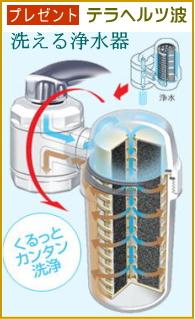 テラヘルツ洗える浄水器